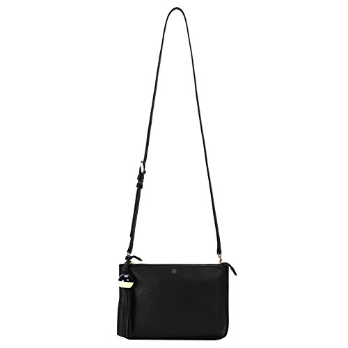 Tory Burch Women's Tassel Cross-Body Bag 29036-001 Black One Size