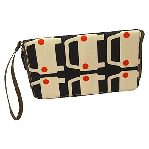 Orla Kiely Travel Wallet Large Cars Multicolor