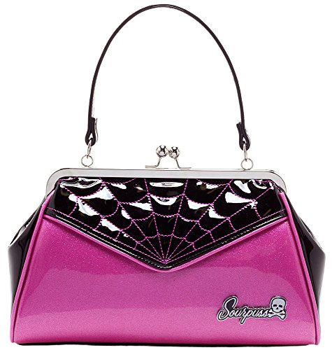 Sourpuss Spiderweb Backseat Baby Purse Pink