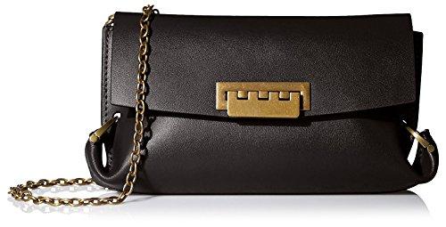 ZAC Zac Posen Women's Contrast-Lined Eartha Folded-Gusset Cross-Body Bag, Black
