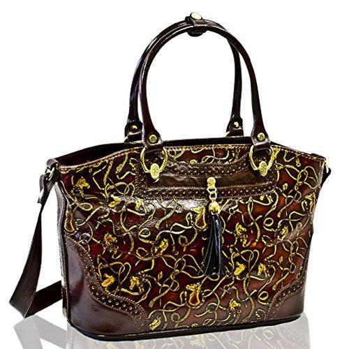 Marino Orlandi Italian Designer Cavallino Leather Purse Crossbody Bag