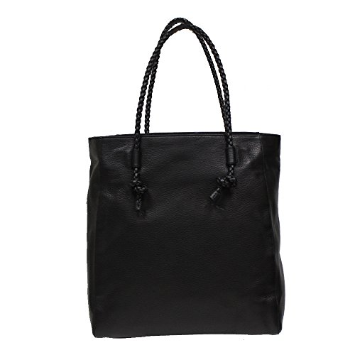 Gucci Dollar Calf Black Leather Tote Bag Open Top Shoulder Handbag 341506
