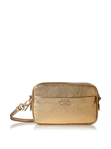 Salvatore Ferragamo Leather Crossbody Bag, Gold