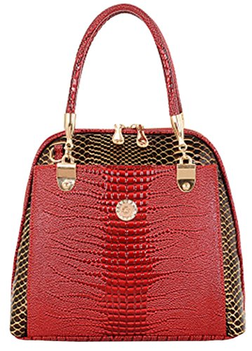 Tina Women's High-end Snake Skin Embossed Top Handle Handbag