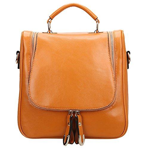 S ZONE Ladies Small Leather Cross Body Handbag Backpack