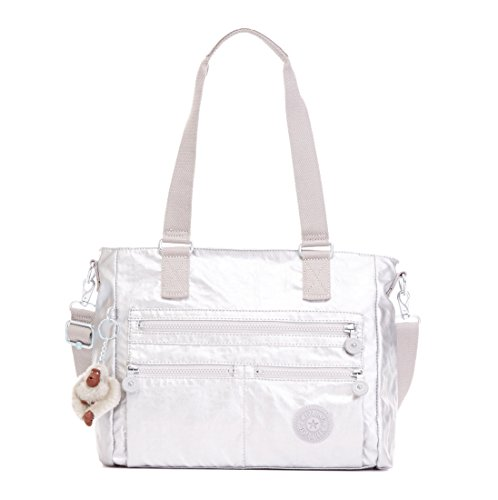 Kipling Janilyn GM Tote Bag, Platinum Metallic
