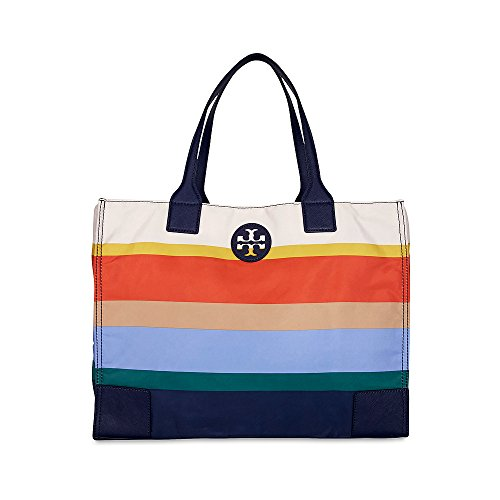 Tory Burch Ella Printed Packable Tote in Journey Stripe