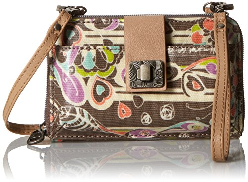 Sakroots Artist Circle Smartphone Convertible Cross Body Bag, Slate Songbird, One Size