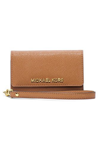Michael Kors Saffiano Iphone 5 Wristlet in Peanut