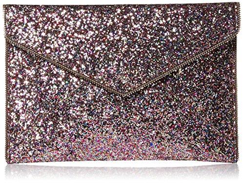 Rebecca Minkoff Multi Glitter Leo Envelope Clutch