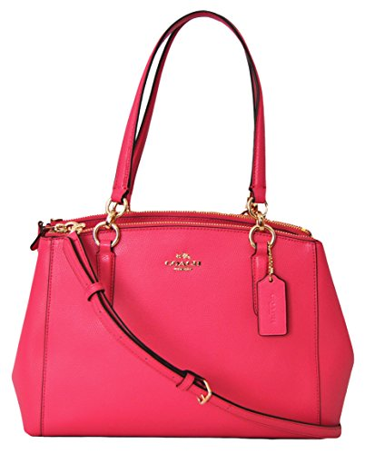 COACH Crossgrain Small Christie Carryall Handbag Dahlia