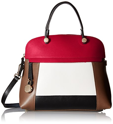 Furla Piper Medium Colorblock Dome Satchel Bag