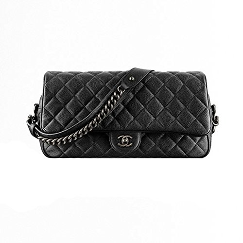 Authentic Chanel Classic Flap Bag Metallic Grained Calfskin Item A94000 Y60562 94305 Made in France