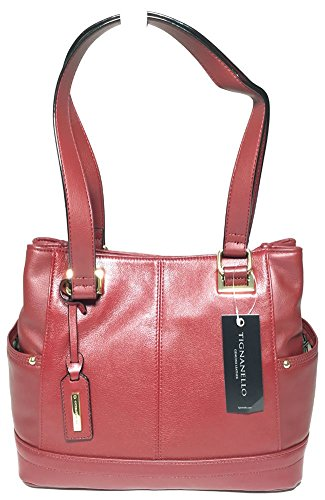 Tignanello Pretty Pockets E/W Shopper Oxblood T68230A