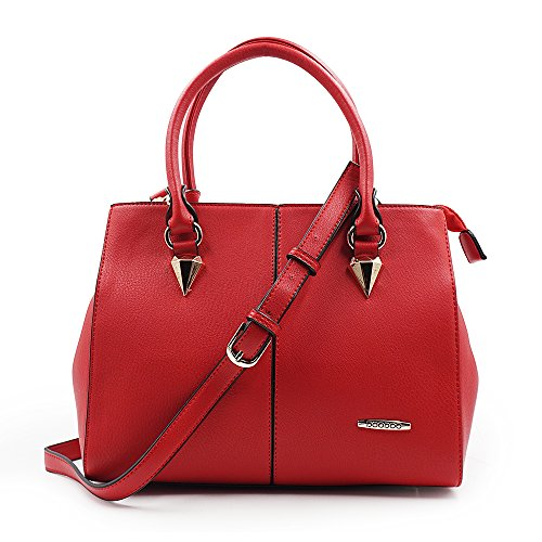 Greatsum Lady Designer Handbag Everyday Leather Office Tote Handbag Top Handle Shoulder Bag for Women Red