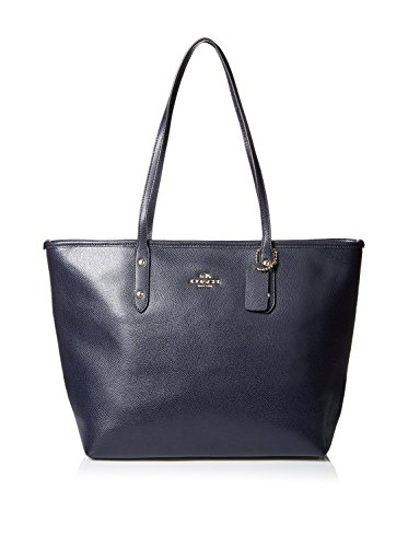 Coach Crossgrain City Zip Top Tote – Midnight