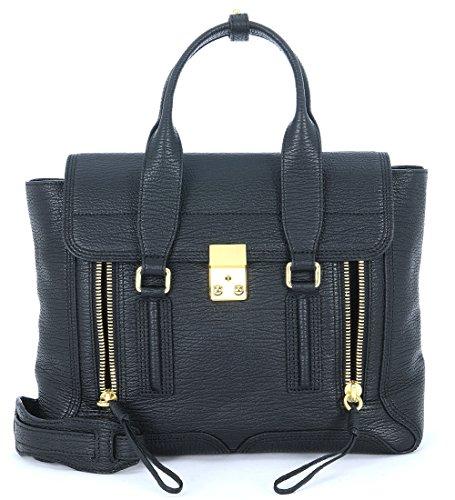 3.1 phillip lim borsa a mano 3.1 phillip lim pashli medium satchel in pelle nera t/u black