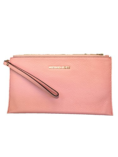 Michael Kors Large Zip Clutch Leather – Pale Pink