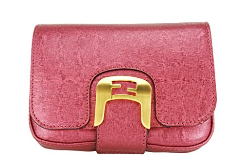Fendi Womens Baguette Handbag Pink Calf Leather
