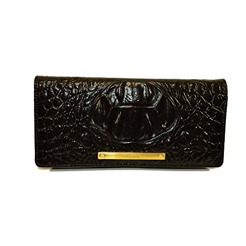 Brahmin Ady Black Melbourne Leather Slim Wallet