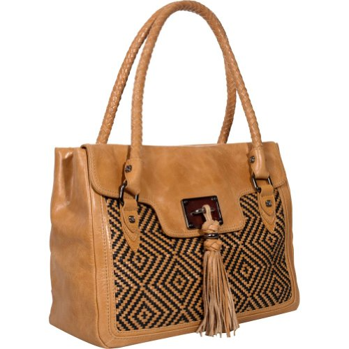 Elliott lucca Bali'89 leather Aztec Camel handbag