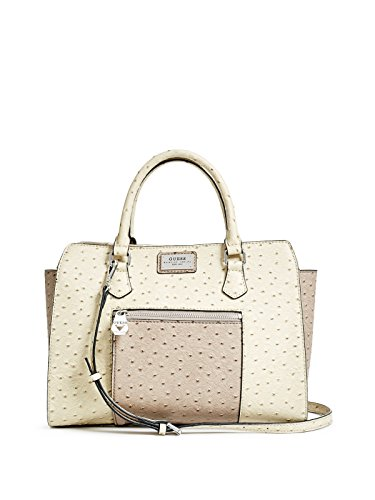 GUESS Women's Lenora Ostrich-Embossed Satchel