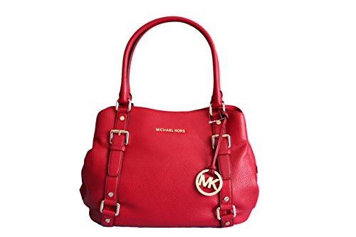 MICHAEL Michael Kors Bedford Large Leather East West Satchel Red