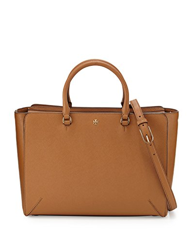 Tory Burch Robinson Large Zip Top Tote Bag Tiger's Eye