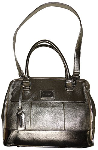 Tignanello Purse Handbag Social Status Leather Satchel Foil Gold