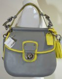 Coach Legacy Archival Two-Tone Wilis Crossbody Handbag Purse Bag 22409 Grey Lemon