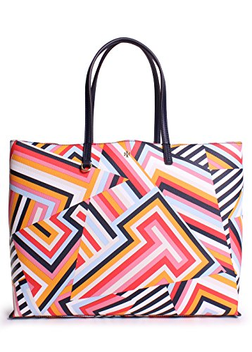Tory Burch Kerrington Square Tote in Cut out T Print