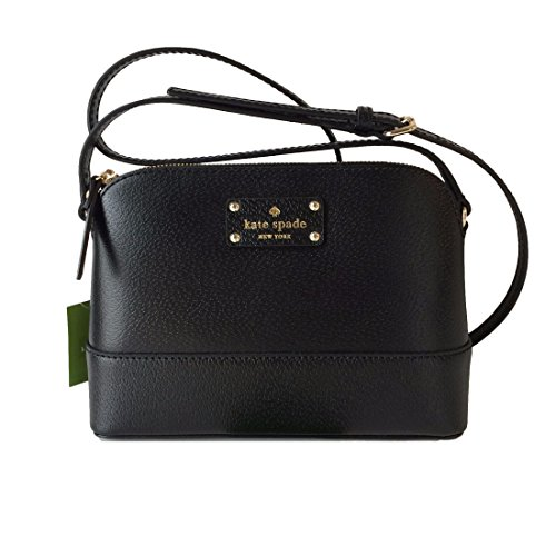 Kate Spade Wellesley Hanna Black Leather Crossbody WKRU2895