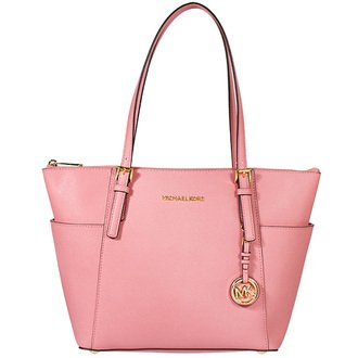 Michael Kors Jet Set East West Top Zip Tote leather Misty rose/Gold