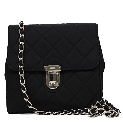 9aceae2f8d15 Prada Tessuto Impuntu Pattina Crossbody Bag - Papaya | Mount Mercy ...