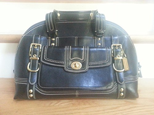 COACH Miranda Vintage Leather Satchel Handbag Limted Edition 11085 – Teal