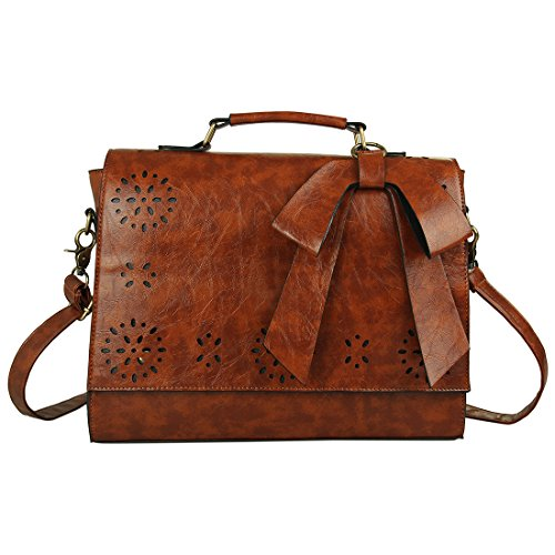 Ecosusi Vintage Women Faux Leather Messenger Satchel Bags