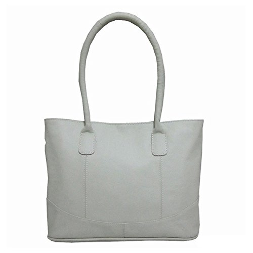 Amerileather Casual Leather Handbag Off-white 1827-0578