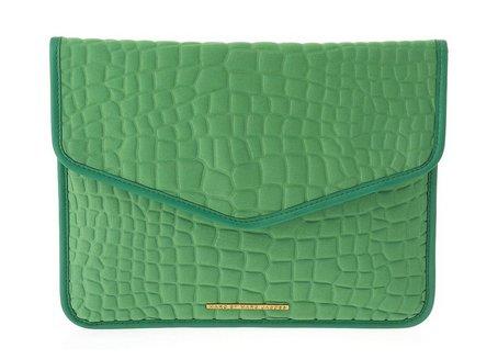 Marc Jacobs Croc Embossed Tablet Envelope Clutch in Parakeet Green