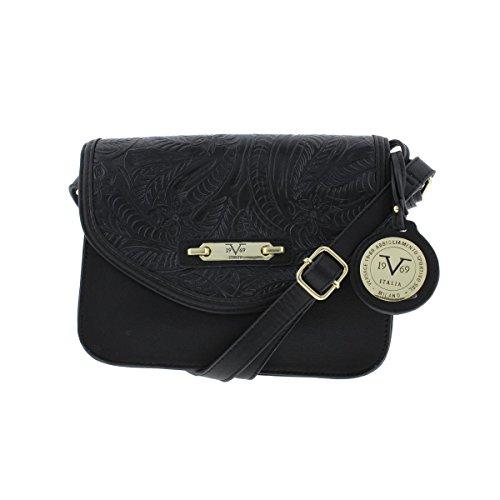 V1969 by VERSACE 19.69 ABBIGLIAMENTO Womens Elsa Faux Leather Crossbody Handbag