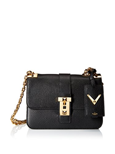 Valentino Women's Borsa Shoulder Bag, Black