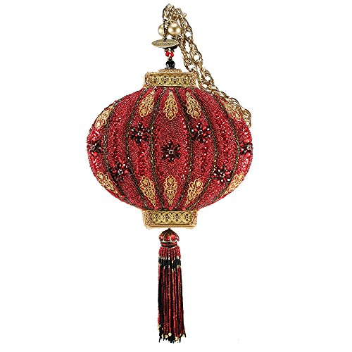 Mary Frances Enlightened Handbag Lantern Red Gold Bag New