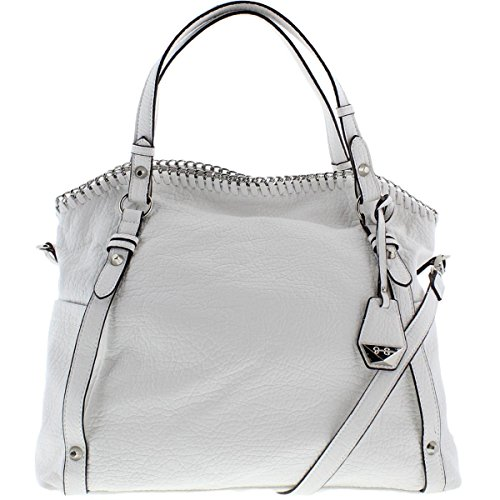 Jessica Simpson Womens Lizzie Faux Leather Convertible Shoulder Handbag