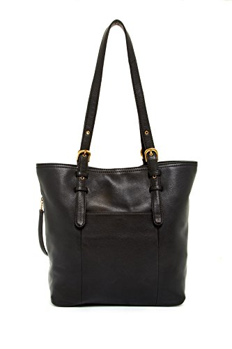 HOBO Cypress Leather Tote Shoulder Bag, Black