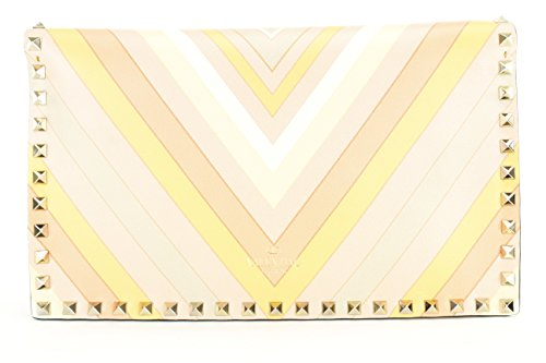 Valentino Garavani Womens Rockstud Native Couture Clutch Handbag Multi-Color