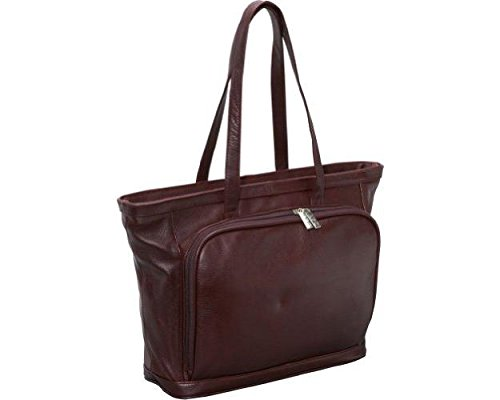 AmeriLeather Cosmopolitan Leather Tote – Burgundy