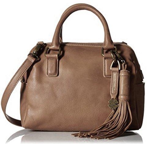 Lucky Brand Jordan Leather Mini Satchel Convertible Cross Body Bag, Tobacco