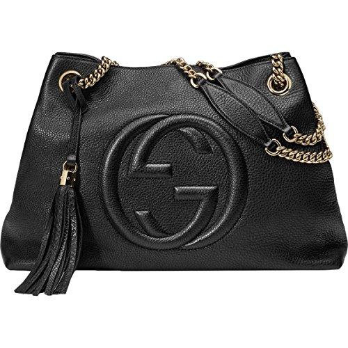 Gucci Womens Soho Leather Chain Straps Shoulder Handbag