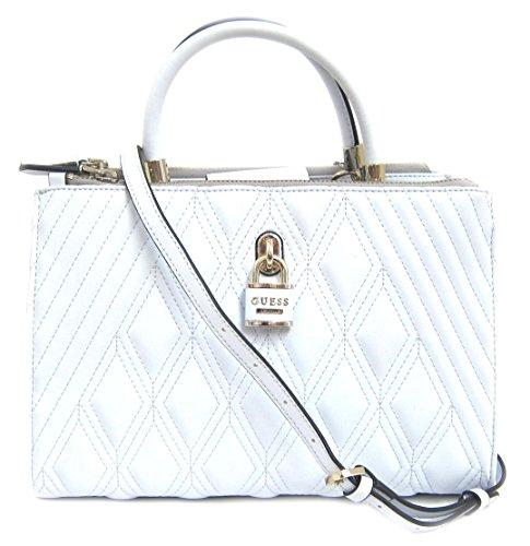 GUESS Women's Shea Satchel Bag, White