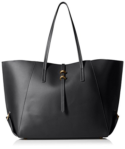ZAC Zac Posen Women's Eartha Folded Gusset Shopper, Black