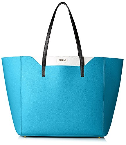 Furla Women's Fantasia M Tote East/West Vit. Stampa Ariel Double, Turchese, One Size